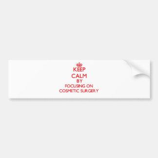 Mantenha a calma centrando-se sobre a cirurgia adesivo para carro