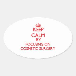 Mantenha a calma centrando-se sobre a cirurgia adesivos em formato oval