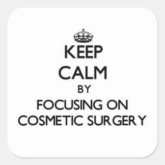 Mantenha a calma centrando-se sobre a cirurgia adesivo quadrado