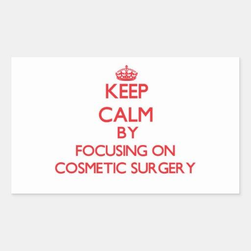 Mantenha a calma centrando-se sobre a cirurgia adesivos em formato retangulares