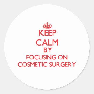 Mantenha a calma centrando-se sobre a cirurgia adesivo em formato redondo