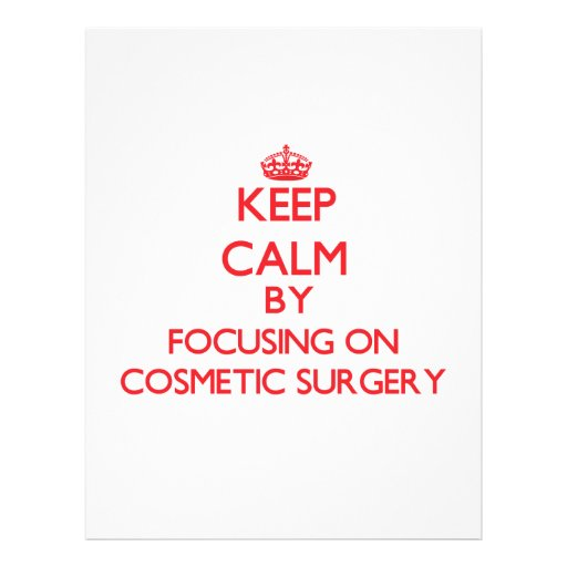Mantenha a calma centrando-se sobre a cirurgia modelo de panfletos