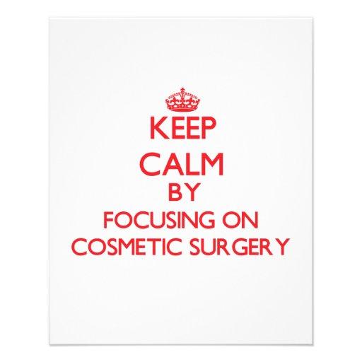 Mantenha a calma centrando-se sobre a cirurgia panfleto