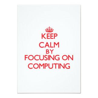 Mantenha a calma centrando-se sobre a computação convites