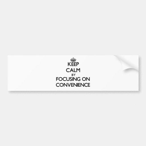 Mantenha a calma centrando-se sobre a conveniência adesivo