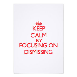 Mantenha a calma centrando-se sobre a demissão convites
