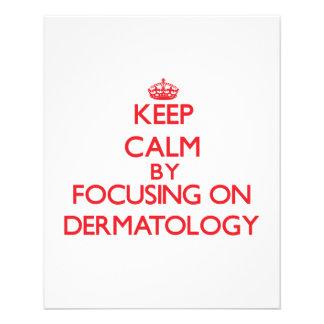 Mantenha a calma centrando-se sobre a dermatologia panfleto personalizado