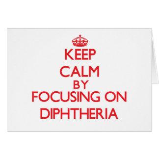 Mantenha a calma centrando-se sobre a difteria cartões