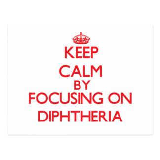 Mantenha a calma centrando-se sobre a difteria cartoes postais