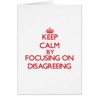 Mantenha a calma centrando-se sobre a discordância cartoes