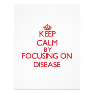 Mantenha a calma centrando-se sobre a doença panfleto personalizados