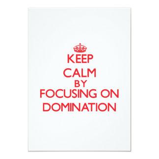 Mantenha a calma centrando-se sobre a dominação convite personalizado