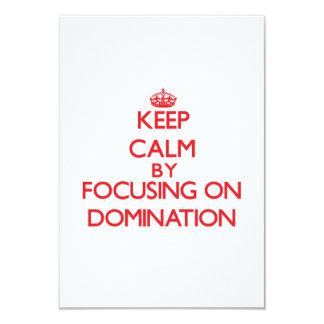Mantenha a calma centrando-se sobre a dominação convite personalizados