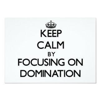 Mantenha a calma centrando-se sobre a dominação convites personalizado