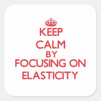 Mantenha a calma centrando-se sobre a ELASTICIDADE Adesivo Em Forma Quadrada