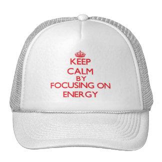Mantenha a calma centrando-se sobre a ENERGIA Boné