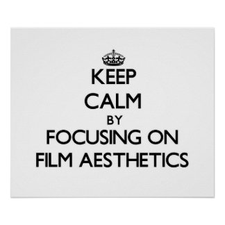 Mantenha a calma centrando-se sobre a estética do posters