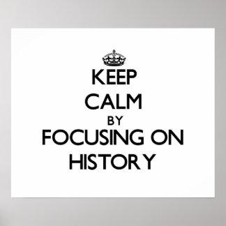 Mantenha a calma centrando-se sobre a história