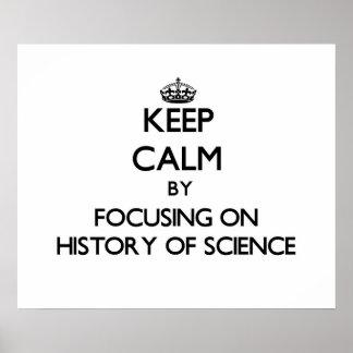 Mantenha a calma centrando-se sobre a história da pôsteres
