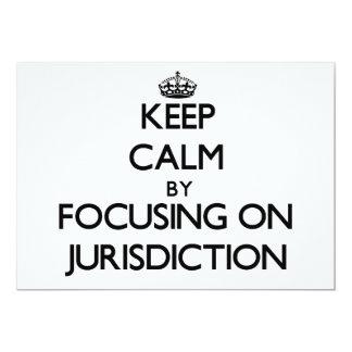 Mantenha a calma centrando-se sobre a jurisdição convites personalizados