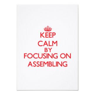 Mantenha a calma centrando-se sobre a montagem convite
