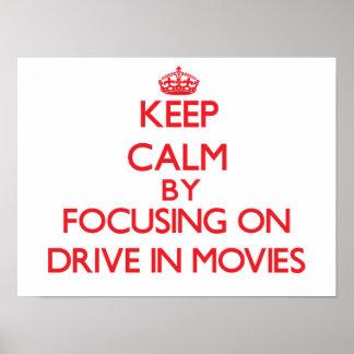 Mantenha a calma centrando-se sobre a movimentação pôsteres