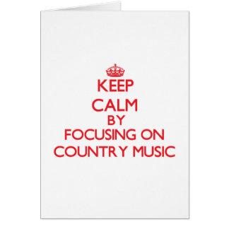 Mantenha a calma centrando-se sobre a música cartoes
