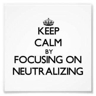 Mantenha a calma centrando-se sobre a neutralizaçã fotos