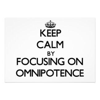 Mantenha a calma centrando-se sobre a omnipotência