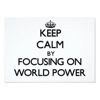 Mantenha a calma centrando-se sobre a potência convites personalizado