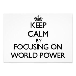 Mantenha a calma centrando-se sobre a potência mun