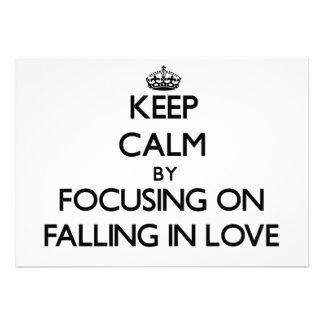 Mantenha a calma centrando-se sobre a queda no amo