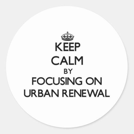 Mantenha a calma centrando-se sobre a reabilitação adesivo redondo