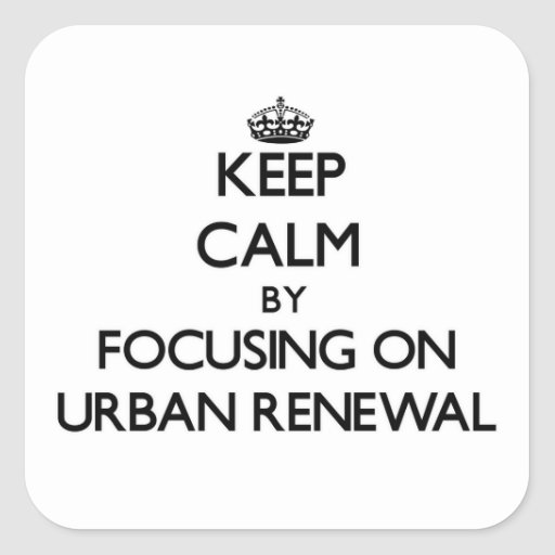 Mantenha a calma centrando-se sobre a reabilitação adesivos quadrados