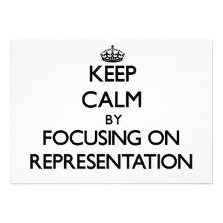 Mantenha a calma centrando-se sobre a representaçã