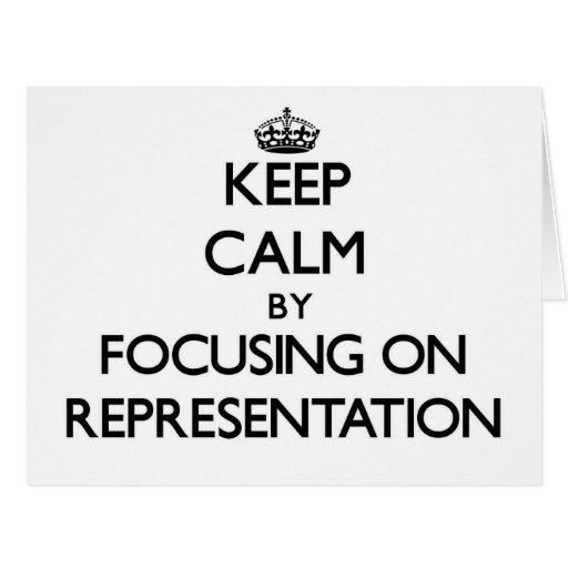 Mantenha a calma centrando-se sobre a representaçã cartão