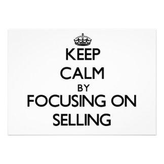 Mantenha a calma centrando-se sobre a venda