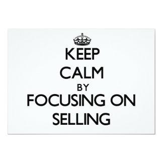 Mantenha a calma centrando-se sobre a venda convite personalizados