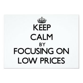 Mantenha a calma centrando-se sobre baixos preços convite 12.7 x 17.78cm