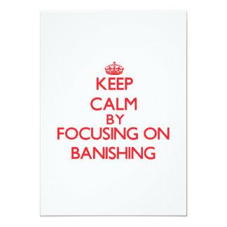 Mantenha a calma centrando-se sobre Banishing Convite