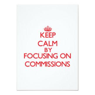 Mantenha a calma centrando-se sobre comissões convites personalizados