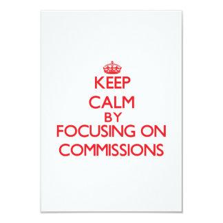 Mantenha a calma centrando-se sobre comissões convite personalizados