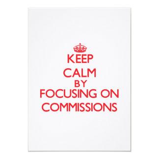Mantenha a calma centrando-se sobre comissões convites personalizado