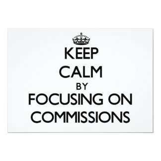 Mantenha a calma centrando-se sobre comissões convites