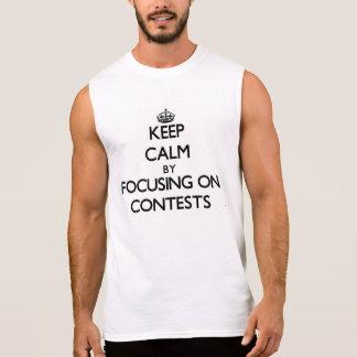 Mantenha a calma centrando-se sobre competições camisa sem mangas