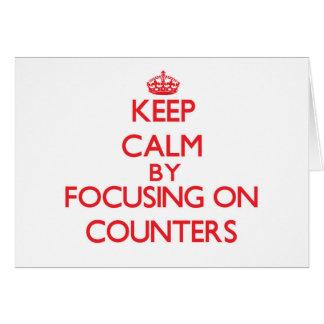 Mantenha a calma centrando-se sobre contadores cartao