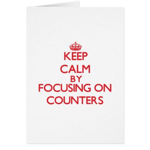 Mantenha a calma centrando-se sobre contadores cartão