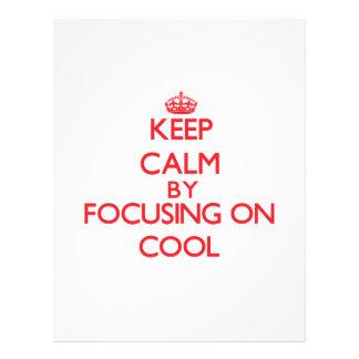Mantenha a calma centrando-se sobre Cool Panfletos Personalizados