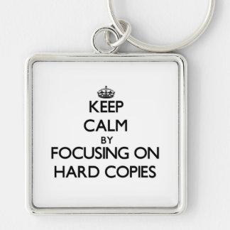 Mantenha a calma centrando-se sobre cópias chaveiros