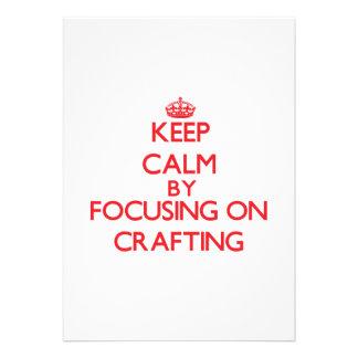 Mantenha a calma centrando-se sobre Crafting Convites Personalizados